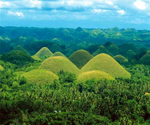 Chocolate Hills-Bohol-island province of the Philippines